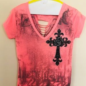 Cross Angel Wings Top Xs/Small
